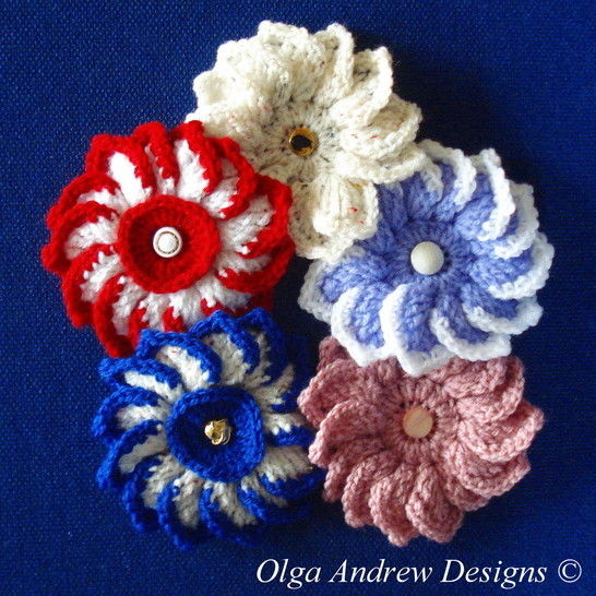 Dahlia flower crochet pattern 020 at Makerist - Image 1