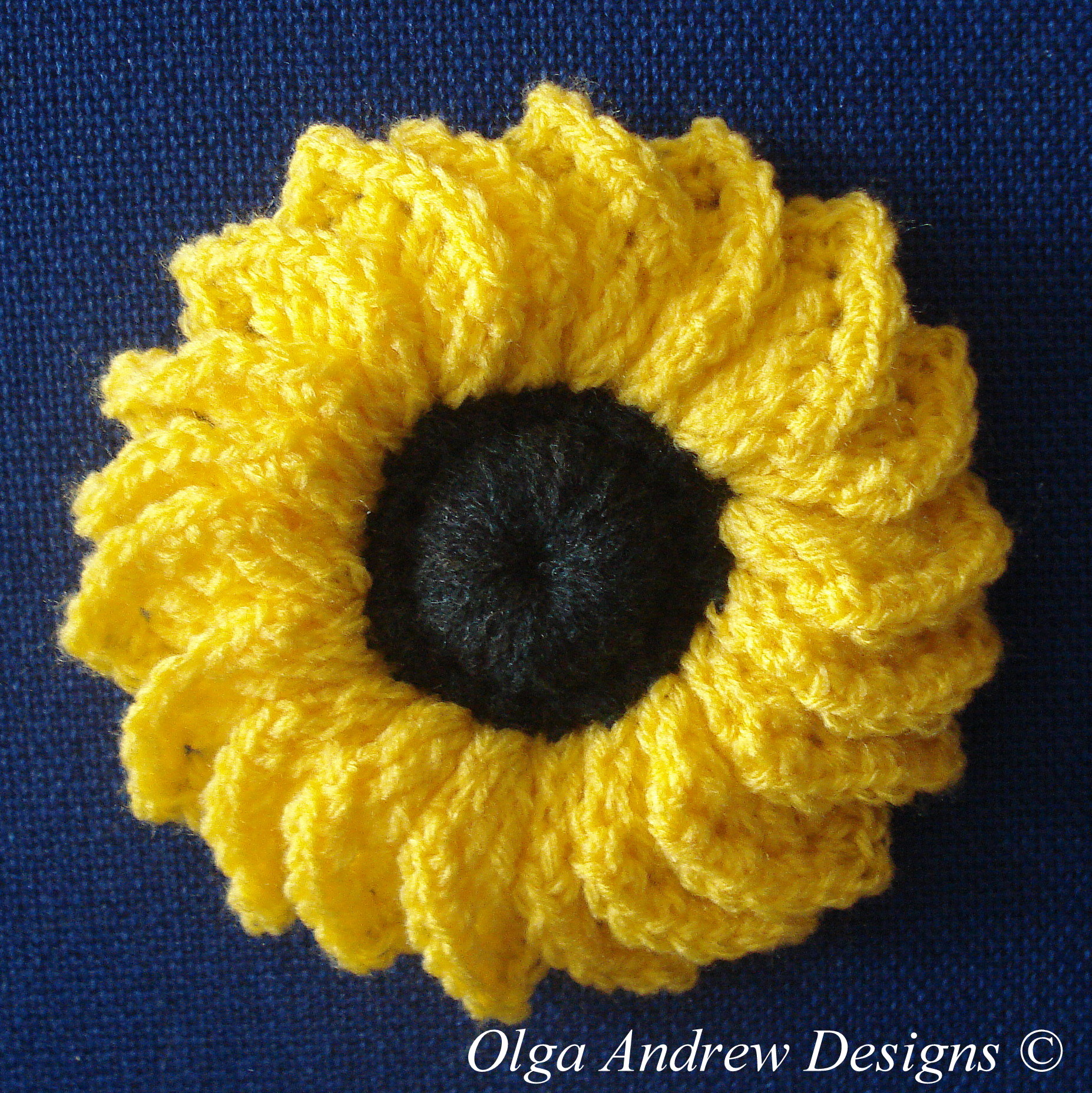 Sunflower crochet pattern 026