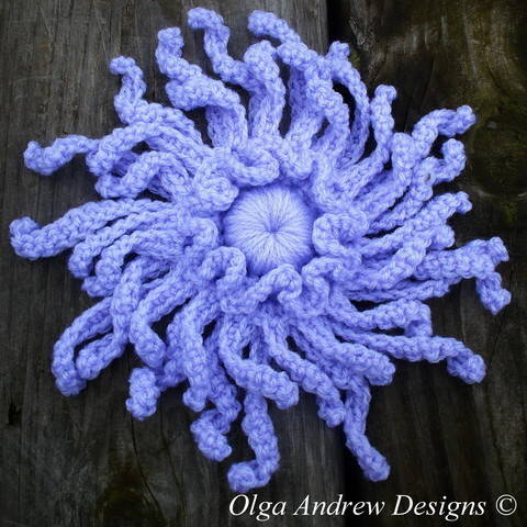 Chrysanthemum flower crochet pattern 073 at Makerist