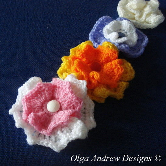 Wavy flower crochet pattern 019 at Makerist - Image 1