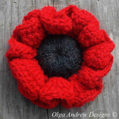 Poppy flower crochet pattern 024 at Makerist
