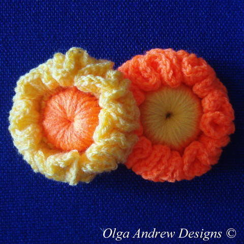 Flower crochet pattern 031 at Makerist