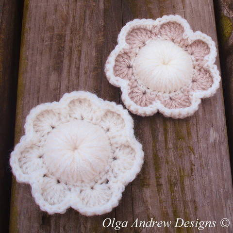 Seven petal flower crochet pattern 050 at Makerist