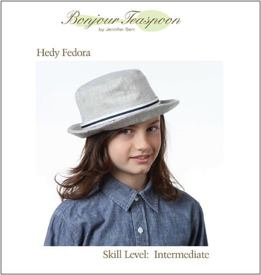 Hedy Fedora Woven Unisex Hat Pdf Sewing Pattern for Kids, Teens and Adults at Makerist - Image 1