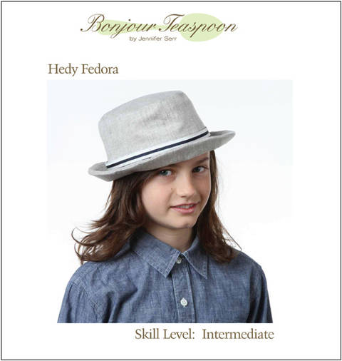 Hedy Fedora Woven Unisex Hat Pdf Sewing Pattern for Kids, Teens and Adults at Makerist