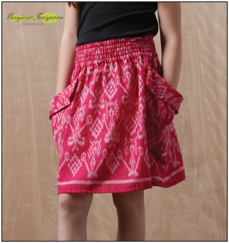 Chloe Woven Skirt pdf Sewing Pattern for Girls
