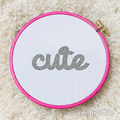 "Stickdatei EEE - ""Cute"" 13x18"
