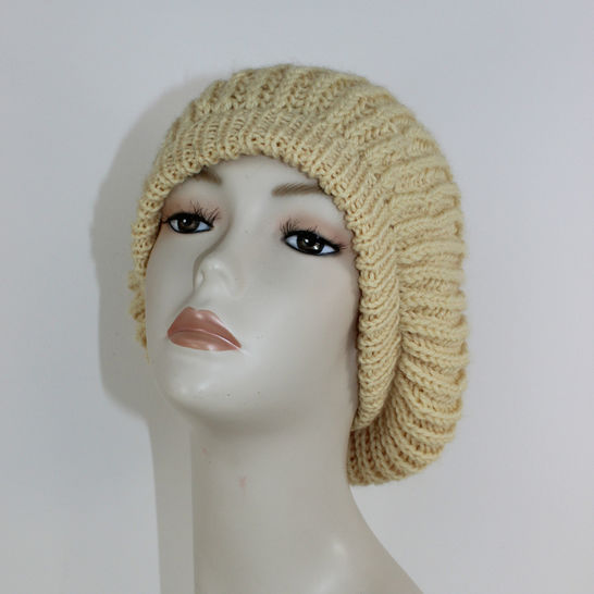 Aran Fishermans Rib Tam Slouch Hat CIRCULAR at Makerist - Image 1
