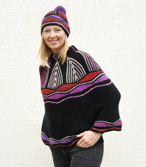ART DECO Cape / Poncho / Capelet knitting pattern at Makerist