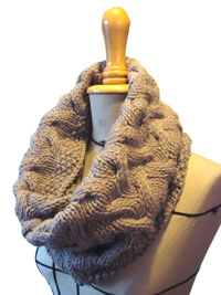 "Snood ""Vent de Sable"" - tricot - adulte"