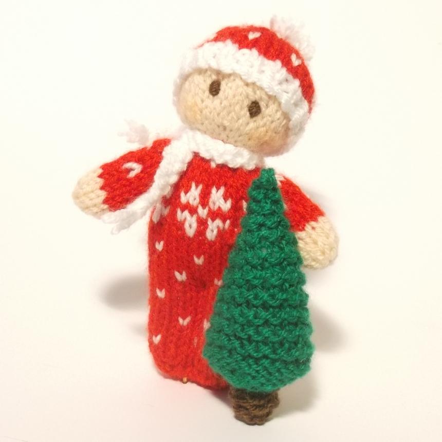 Christmas Bitsy Baby Doll knitting Pattern