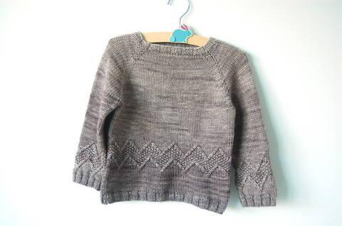Chuck baby and child unisex sweater - knitting pattern (en) bei Makerist