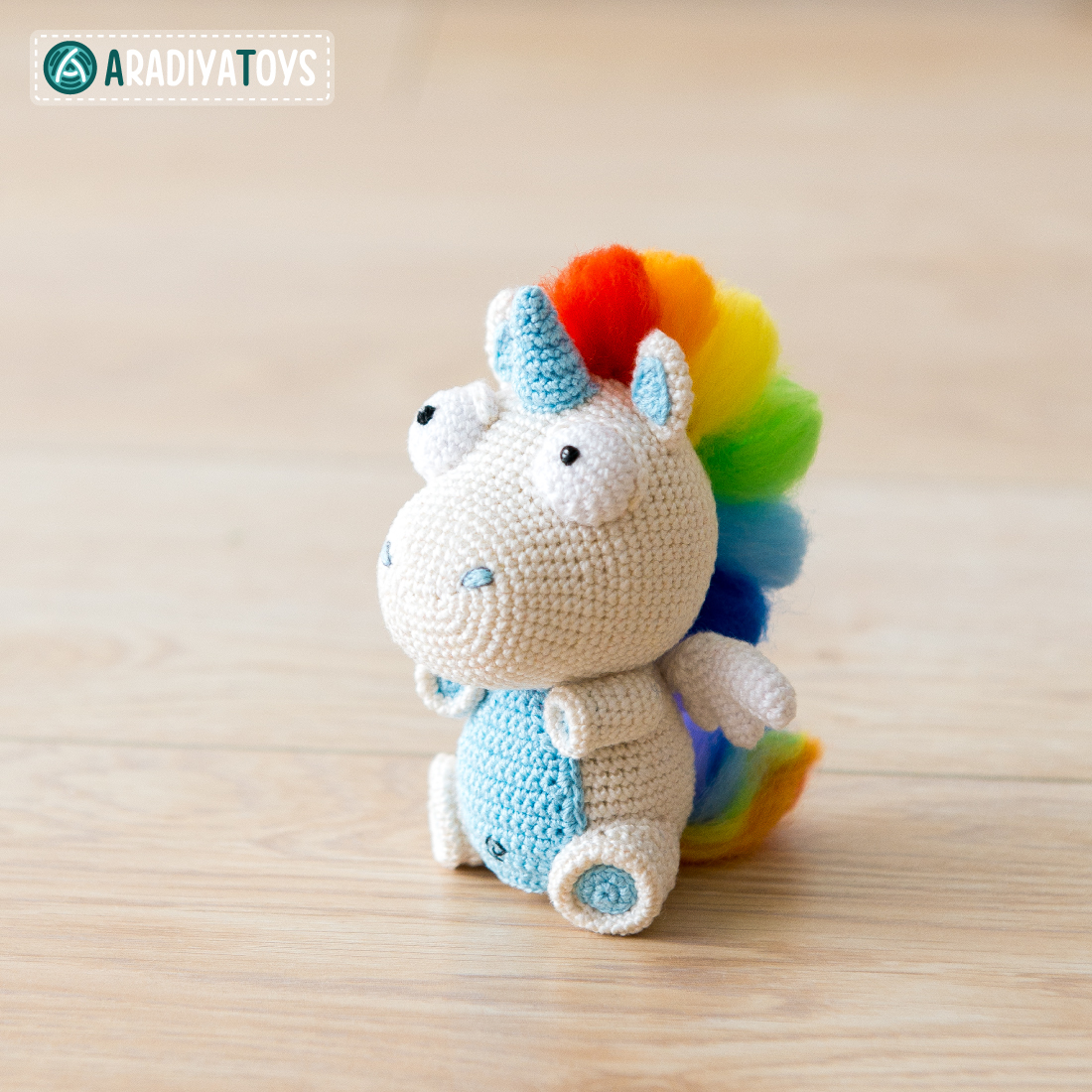 Crochet Pattern of Unicorn Corki by AradiyaToys