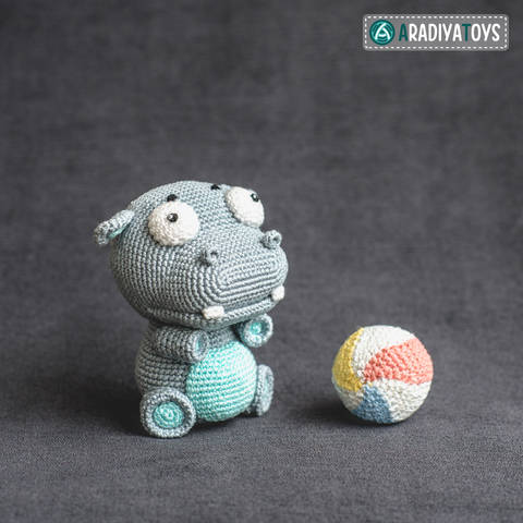 Crochet Pattern of Hippo Bruno by AradiyaToys