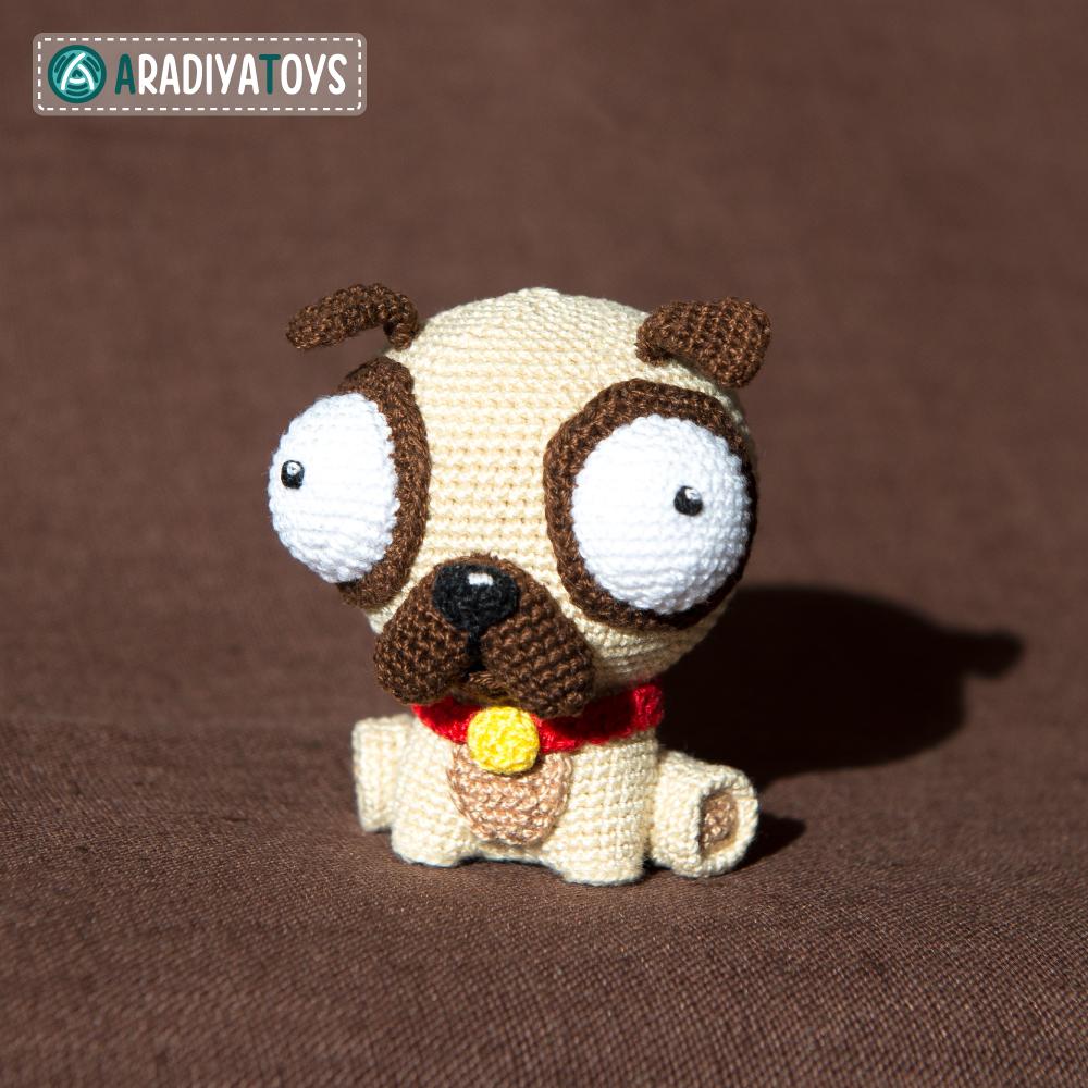 Crochet Pattern of Pug Luis by AradiyaToys