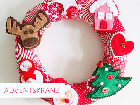 Adventskranz mit Filzfiguren bei Makerist