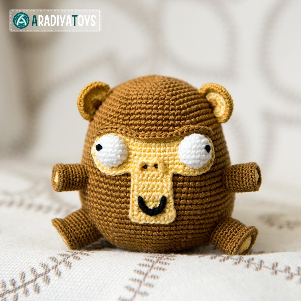 Crochet Pattern of Monkey Elnino by AradiyaToys