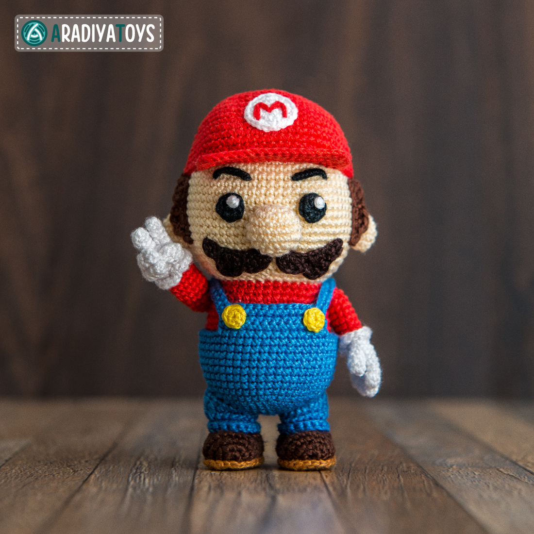 Crochet Pattern of Mario by AradiyaToys