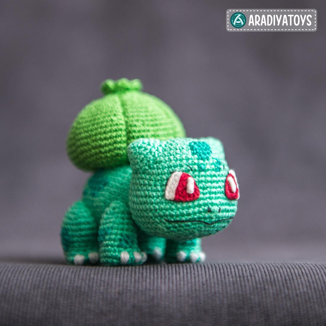 Crochet Pattern of Bulbasaur by AradiyaToys