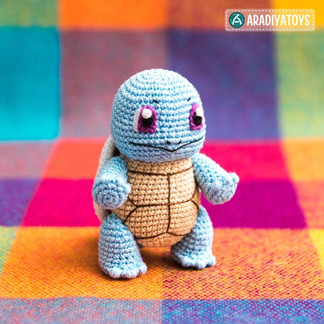 Crochet Pattern of Squirtle by AradiyaToys