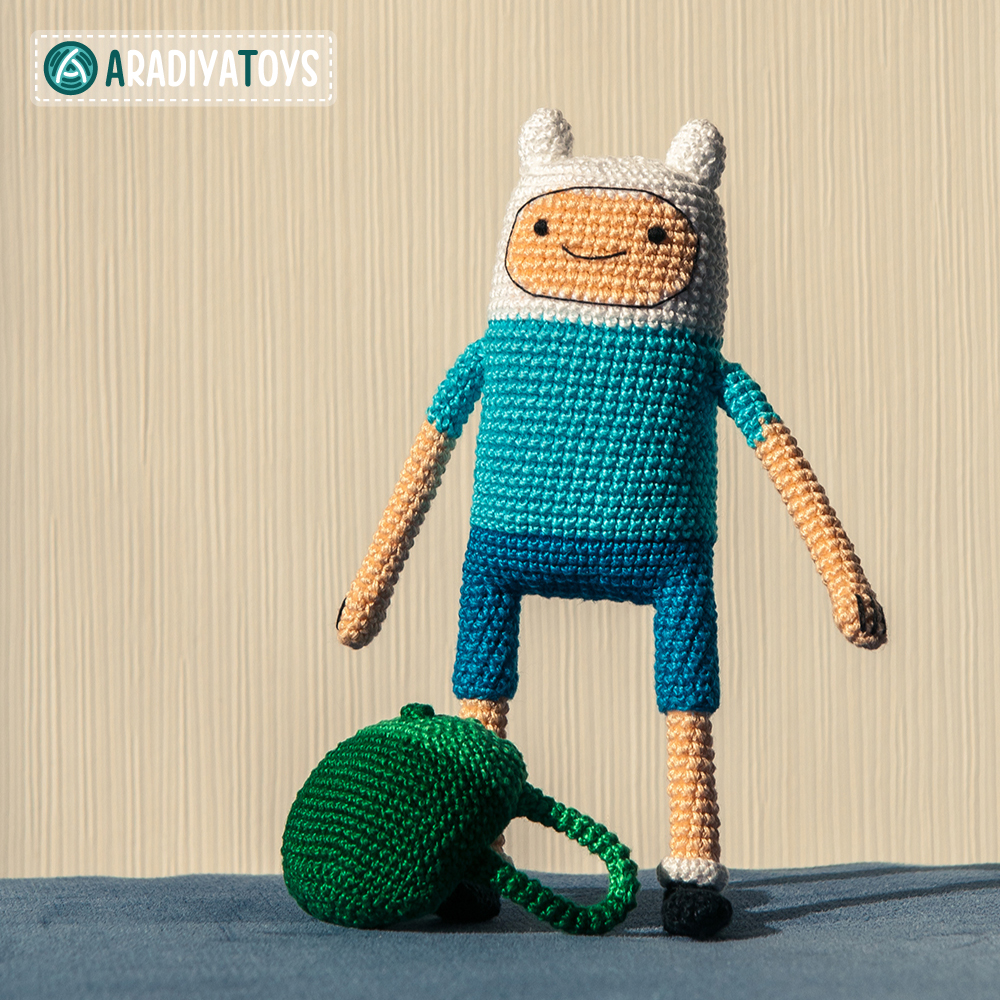 Crochet Pattern of Finn the Human by AradiyaToys