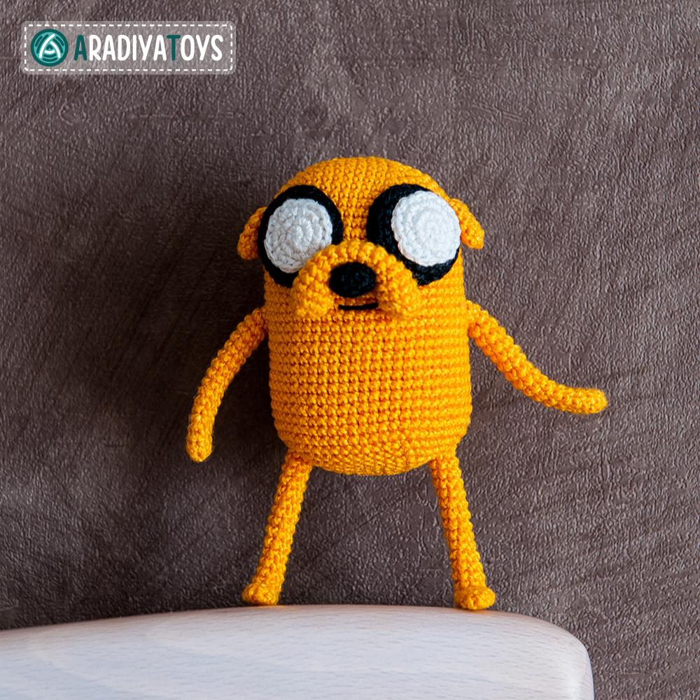Crochet Pattern of Jake the Dog by AradiyaToys