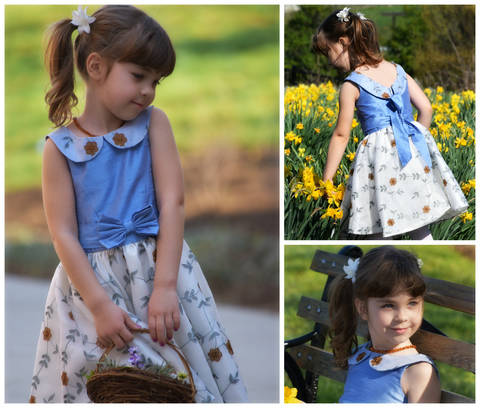 GIRLS DRESS SEWING PDF PATTERN, PRINCESS COSTUME - FLOWER GIRL DRESS - PDF SEWING PATTERN