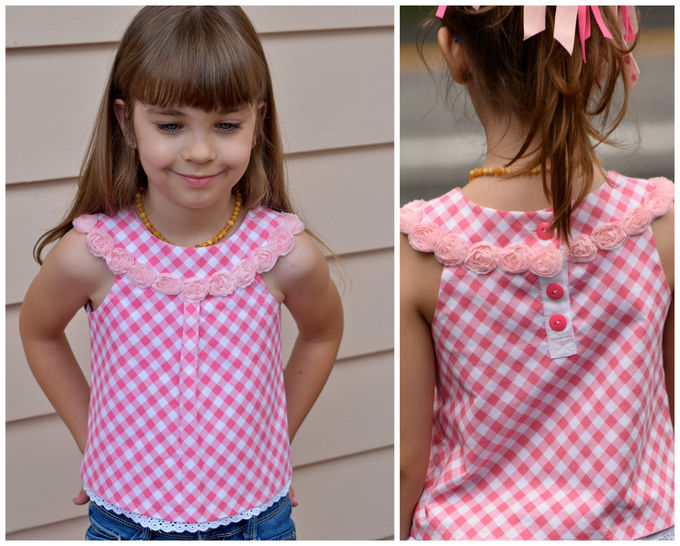 GIRLS DRESS SEWING PATTERN, GIRLS TUNIC SEWING PATTERN,ROUND COLLAR, DRESS PATTERN, PRETTY at Makerist - Image 1