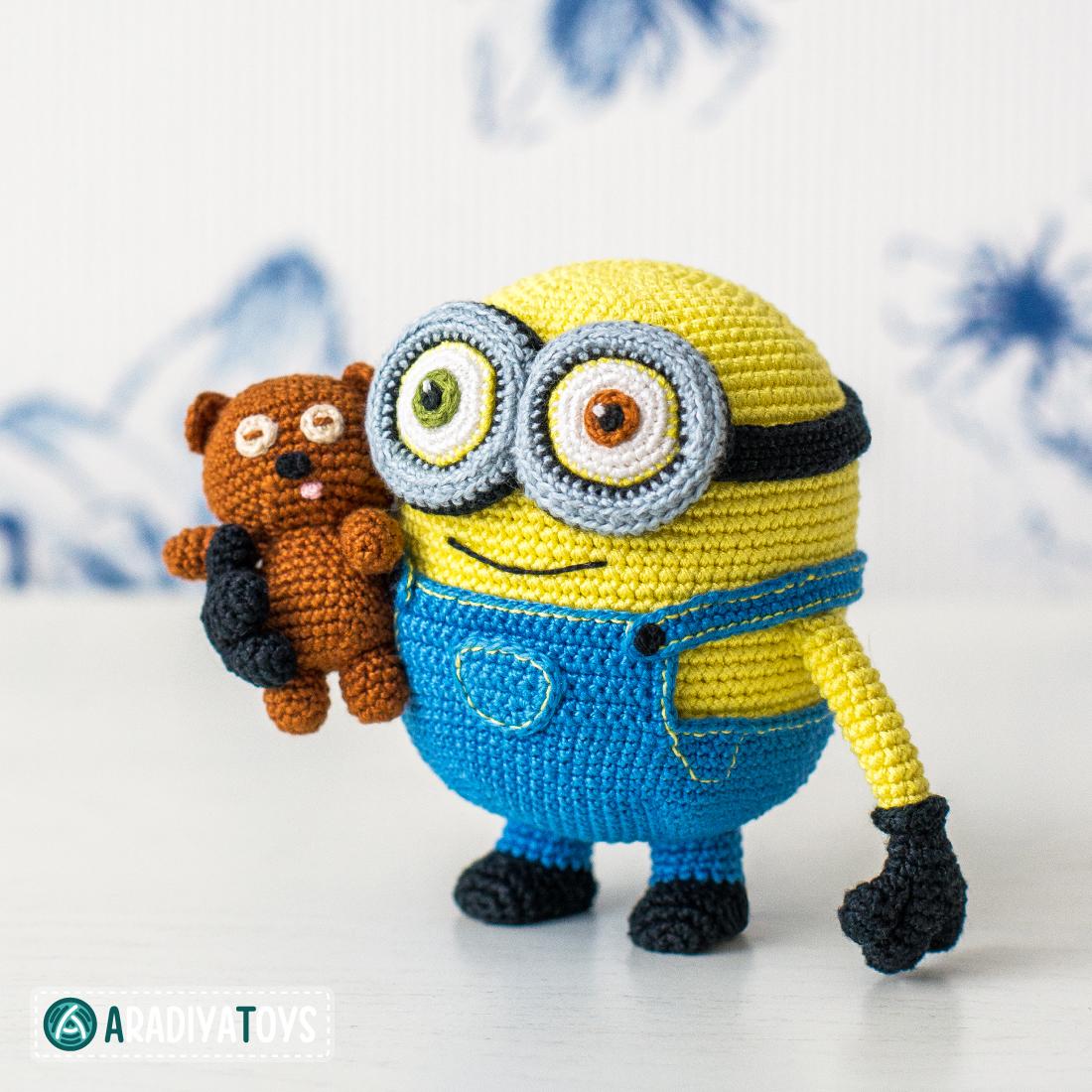 Crochet Pattern of Minion Bob with Bear Tim by AradiyaToys