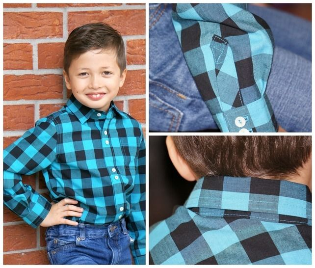 Classic Button up Shirt for Boys, PDF sewing Pattern with Video Tutorial at Makerist - Image 1