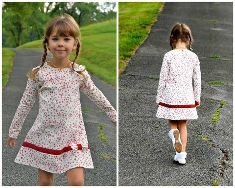 Tunic Dress with Raglan Sleeves for  Jersey at Makerist