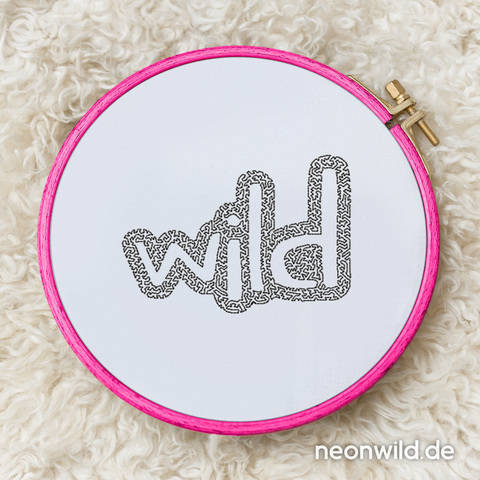 """Stickdatei EEE - """"Wild"""" 10x10"""