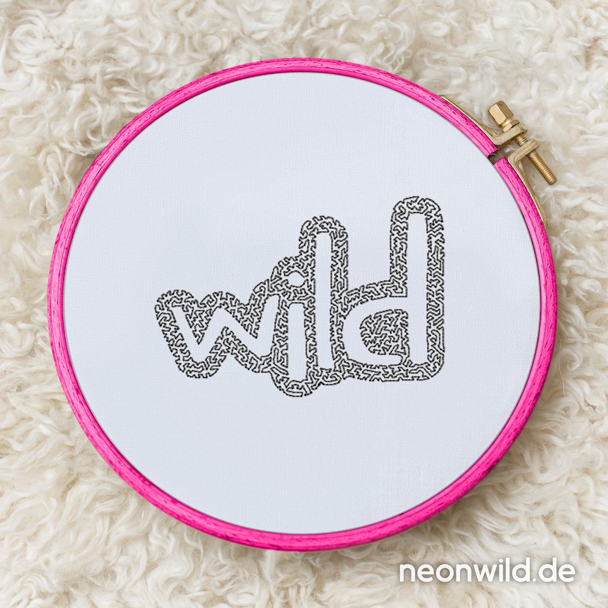 """Stickdatei EEE - """"Wild"""" 13x18"""