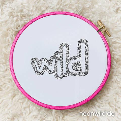 """Stickdatei EEE - """"Wild"""" 16x26"""