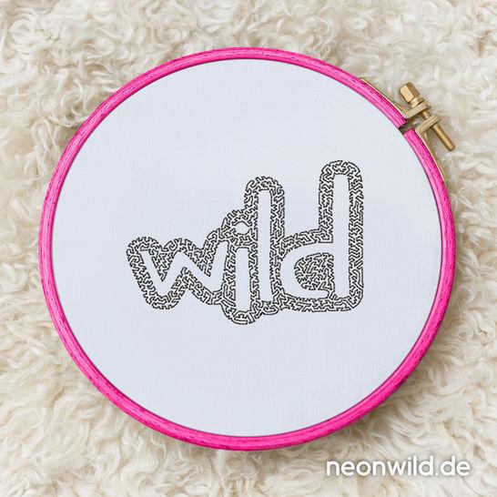 """Stickdatei EEE - """"Wild"""" 3er-Set bei Makerist - Bild 1"""