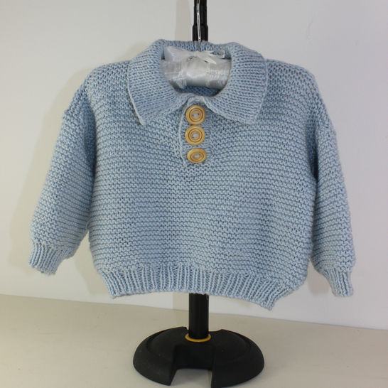Baby Garter Stitch Collar Sweater at Makerist - Image 1