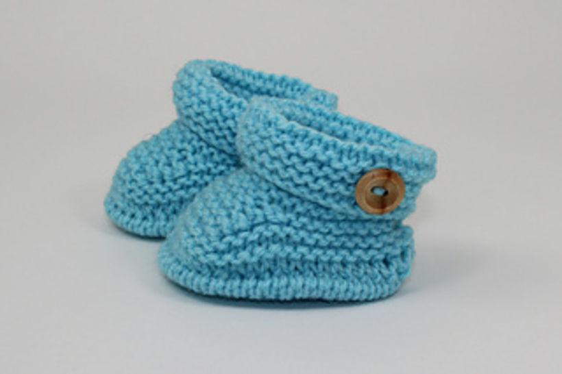 Baby Simple Cuff One Button Booties at Makerist - Image 1