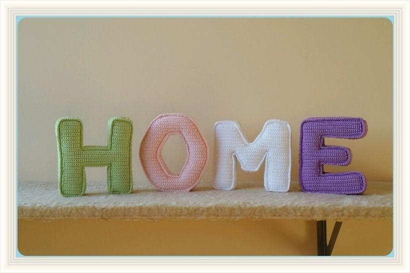 Häkelanleitung 3D Buchstaben HOME bei Makerist - Bild 1