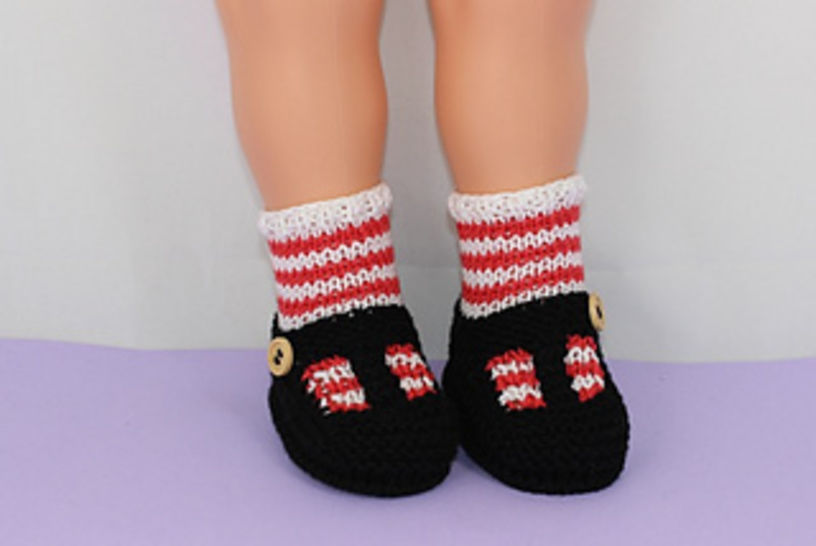 Baby Stripe Sock and T Bar Sandals Booties at Makerist - Image 1