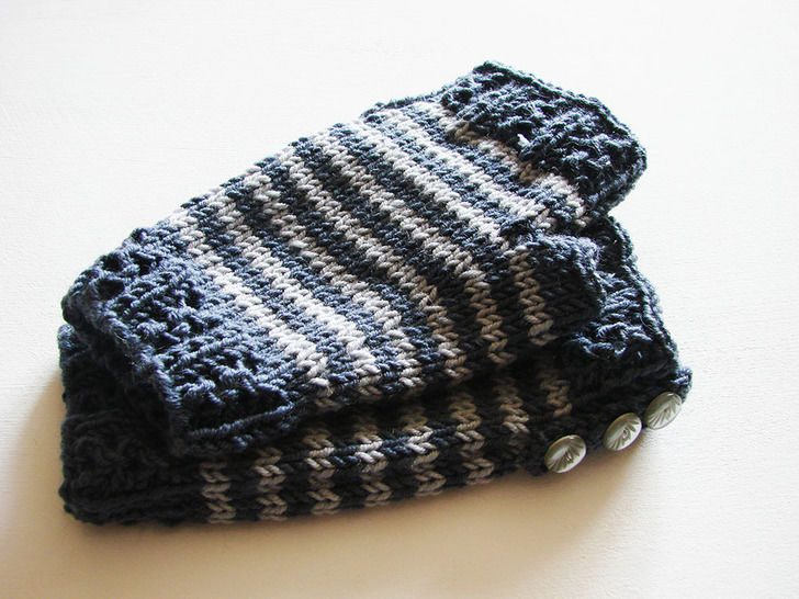 Mitaines Agathe - tutoriel tricot avec photos chez Makerist - Image 1