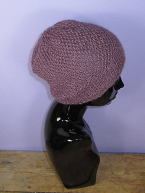 Double Moss Stitch Slouch Hat