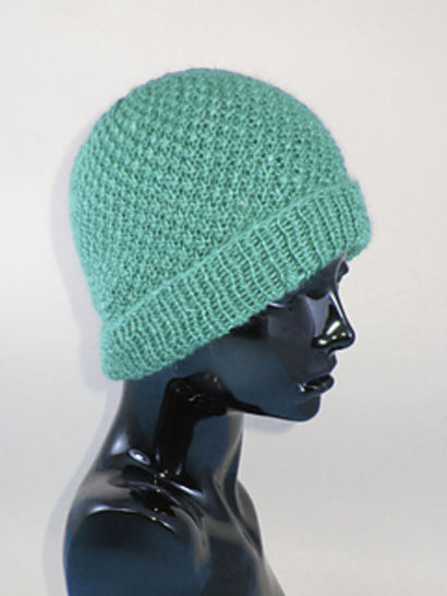 Double Moss Stitch Beanie Hat at Makerist - Image 1
