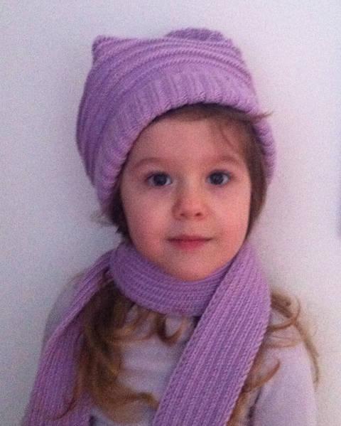 Elemiah Schal und Mütze für Mädchen Strickanleitung