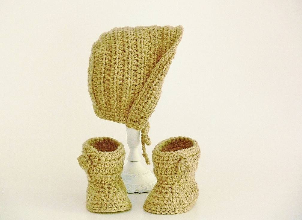 Baby Bonnet and Boots