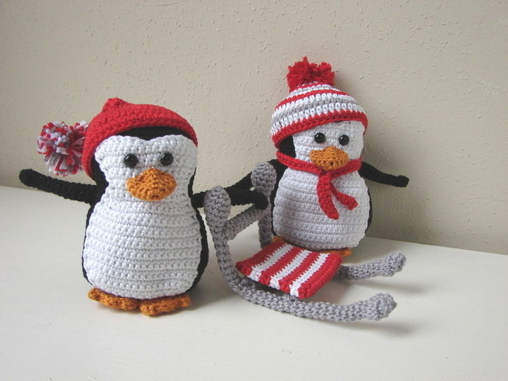 Amigurumi penguins and sled - crochet pattern  at Makerist - Image 1
