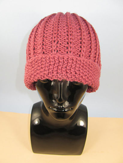Moss Stitch Cuff Fishermans Rib Beanie Hat at Makerist - Image 1