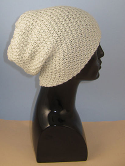 Chunky Unisex Double Moss Stitch Slouch Hat at Makerist - Image 1