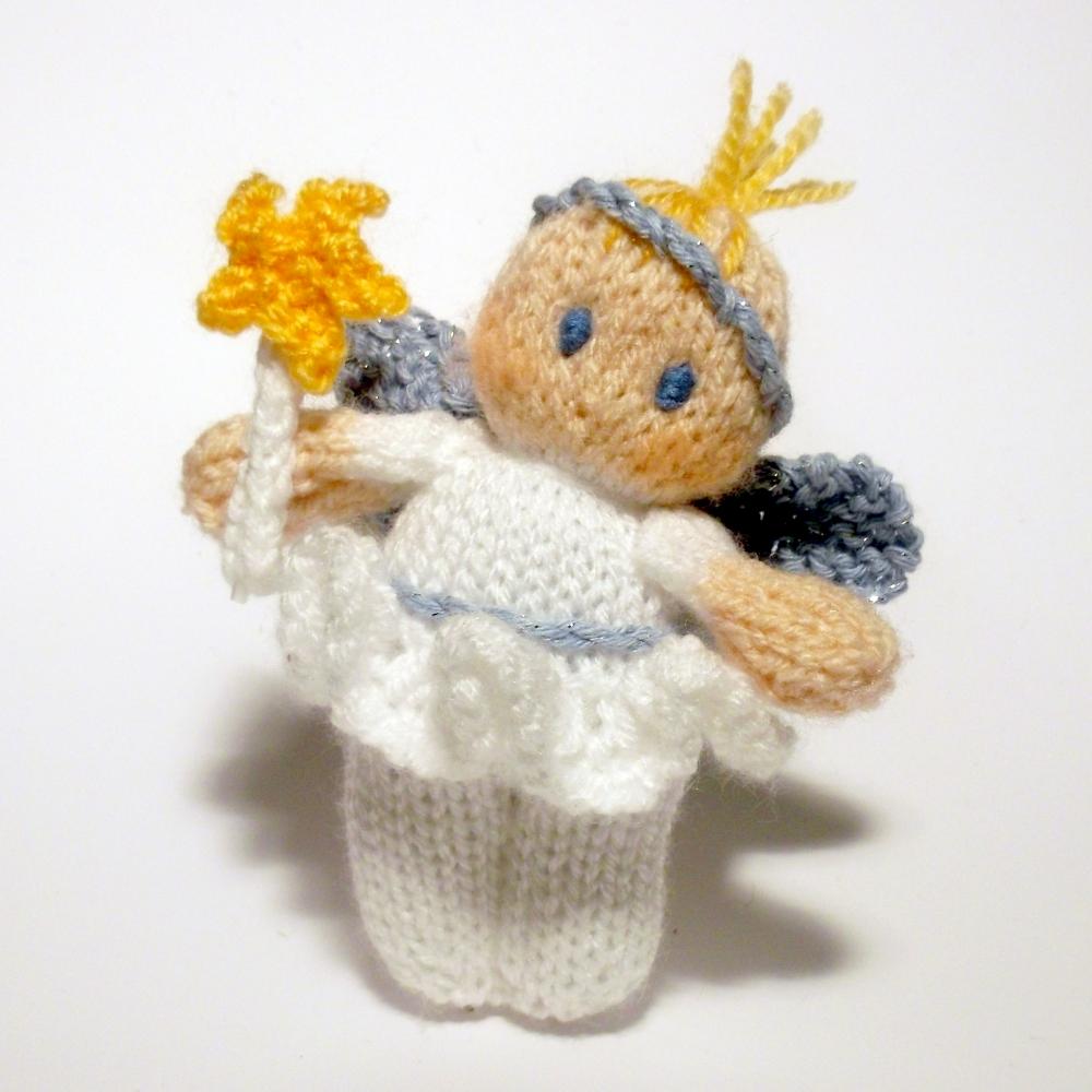 Christmas Fairy Bitsy Baby Doll Knitting Pattern