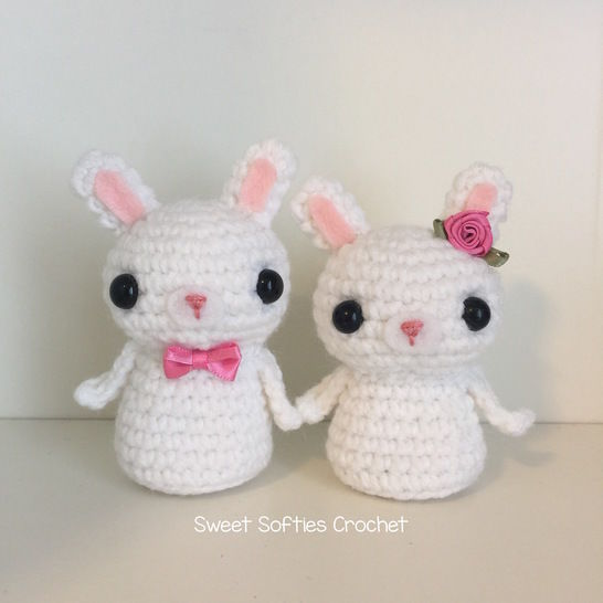 Amigurumi Bunny Rabbit Kokeshi Couple at Makerist - Image 1