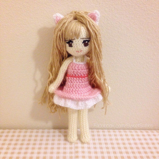 Kiki the Kitty Cat Girl Anime Doll with Dress at Makerist - Image 1